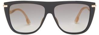 Jimmy Choo Suvi Flat-top Acetate Sunglasses - Womens - Black
