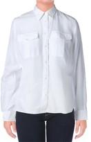 Lauren Ralph Lauren Womens Silk Blend Sheer Button-Down Top