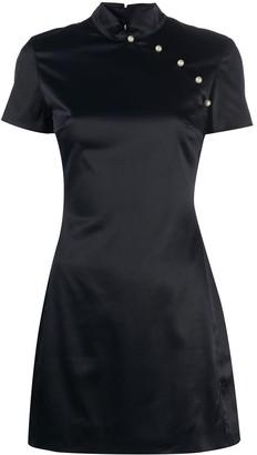 ALEXACHUNG Mandarin mini dress