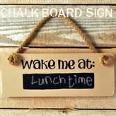 Angelic Hen Wooden Door Sign: Wake Me At ...