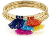 Aqua Lilith Tassel Bangles, Set of 5 - 100% Exclusive