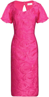 Mikael Aghal Cutout Brocade Midi Dress