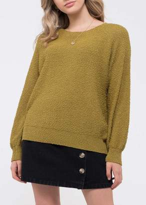 Blu Pepper Raglan Sleeve Popcorn Sweater