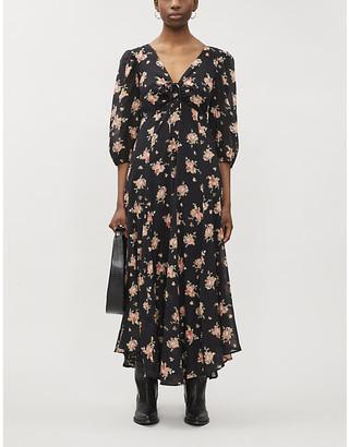 Free People Sea Glass floral-print cotton maxi dress