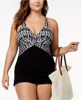 Profile by Gottex Plus Size Tummy-Control Underwire Swimdress Women's Swimsuit