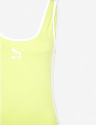 Puma T7 logo-print stretch-cotton bodysuit