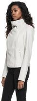 LAMARQUE - Talia Funnel Neck Jacket In White