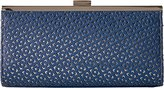 Jessica McClintock Laura Perforated Frame Clutch