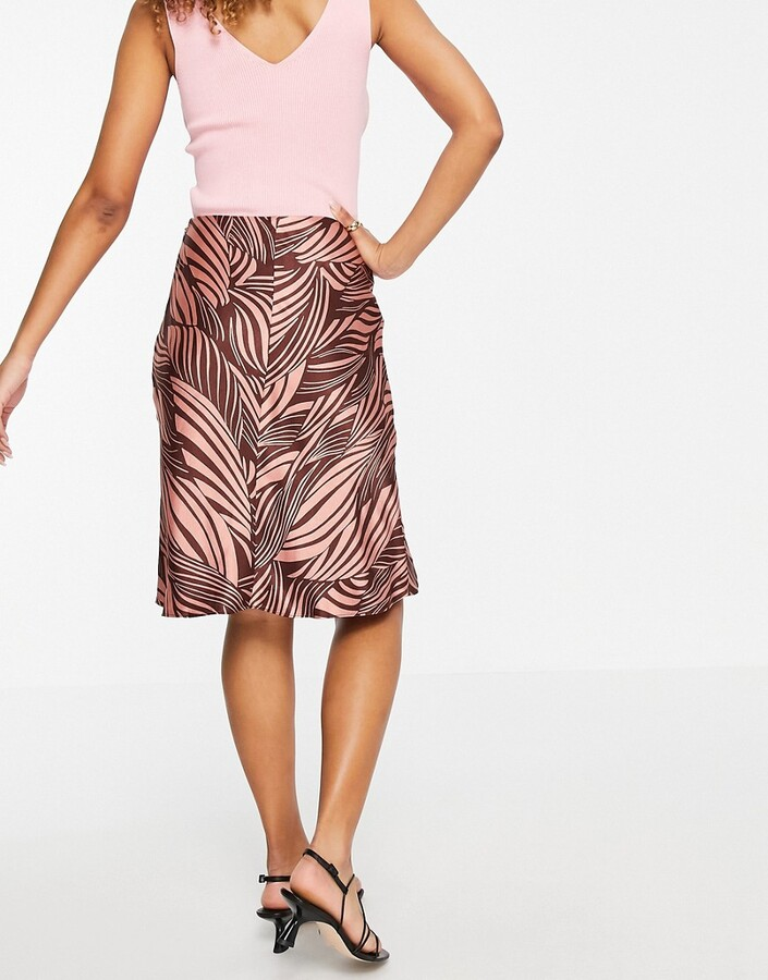 Thumbnail for your product : And other stories & satin printed above knee skirt in pink