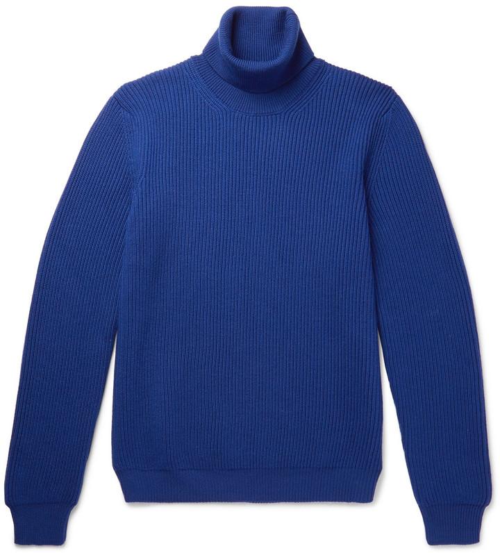 Altea Ribbed Virgin Wool Rollneck Sweater
