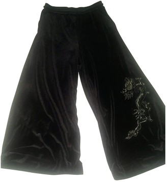 H&M Angel Chen X Black Synthetic Trousers