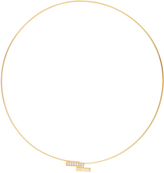 AZLEE White Light diamond & yellow-gold choker