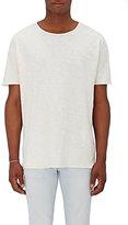 Nudie Jeans Men's Organic Cotton Raw-Edge T-Shirt-WHITE