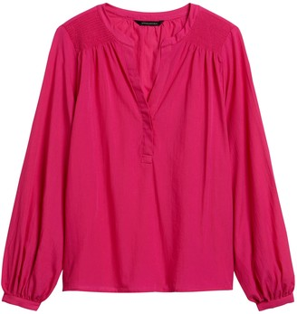 Banana Republic Cotton Balloon-Sleeve Top