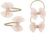 Accessorize Pink Party Bow Click Clacks and Pony Set