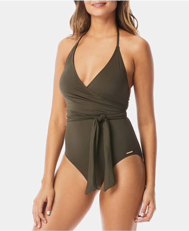 ebddba47dff2a Tie Neck Swimsuit - ShopStyle