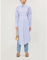 Acne Studios Button-up cotton-blend midi dress
