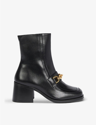 Claudie Pierlot Aventure leather ankle boots