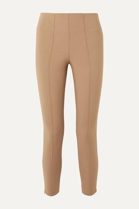 By Malene Birger Adelio Stretch Cotton-blend Cady Skinny Pants - Camel