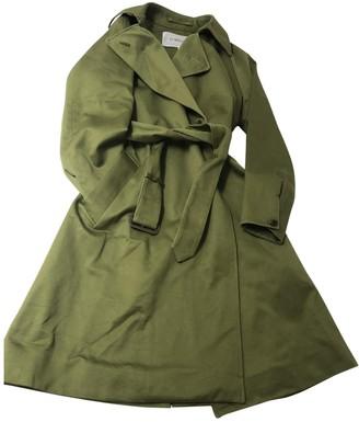 J&M Davidson J & M Davidson Green Cotton Trench Coat for Women