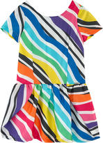 Junior Gaultier Striped satin dress