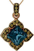 FINE JEWELRY Crystal 14K Rose Gold Over Sterling Silver Square Pendant Necklace