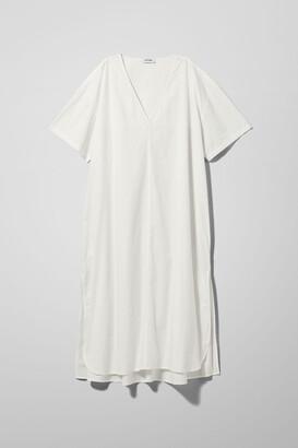 Weekday Margot Poplin Dress - White