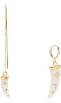 Isabel Marant Mismatched Horn Earrings - Gold
