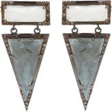 Gemstone & Champagne Diamond Wooster Earrings