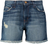 Current/Elliott The Vintage Straight distressed denim shorts