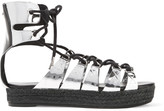 McQ by Alexander McQueen Mirrored leather platform sandals