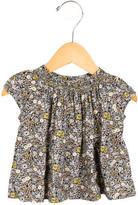 Bonpoint Girls' Sleeveless Floral Print Top