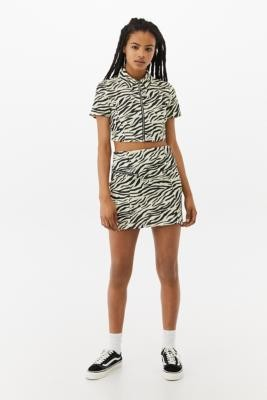 Urban Renewal Vintage Urban Outfitters Archive Zebra Mini Skirt - White S at Urban Outfitters