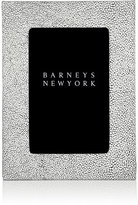 "Barneys New York Shagreen-Effect Studio 4"" x 6"" Picture Frame-WHITE"