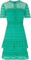 Whistles Indira Lace Ruffle Dress