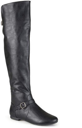 Journee Collection Womens Loft Wide Calf Knee-High Riding Boots