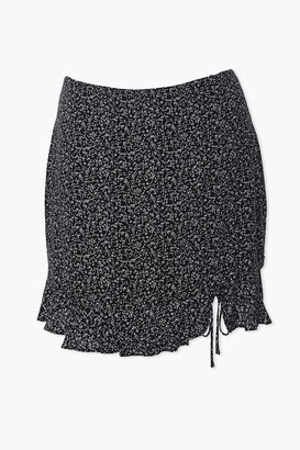 Forever 21 Plus Size Floral Self-Tie Mini Skirt