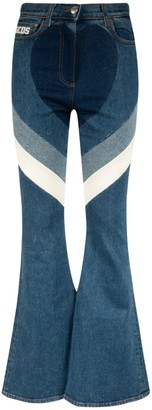 GCDS Flared Leg Jeans