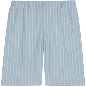 Gucci Striped cotton wool mohair shorts