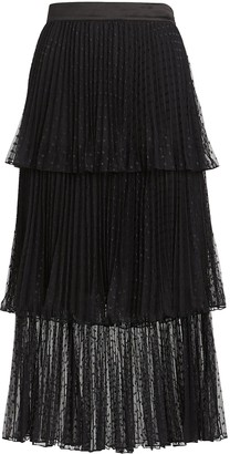 Intermix Edith Ruffled Tulle Midi Skirt