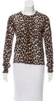 Equipment Cashmere-Blend Cheetah Print Sweater