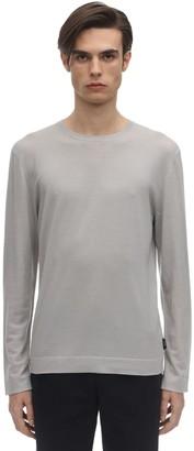Ermenegildo Zegna Frosted Effect Wool Knit Sweater