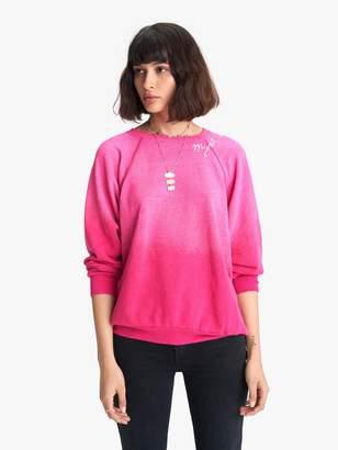 I Stole My Boyfriend's Shirt Mystical Rainbow Sweatshirt - Fuchsia