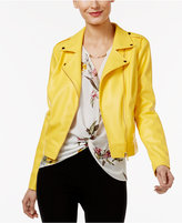 Thalia Sodi Faux-Leather Moto Jacket, Only at Macy's