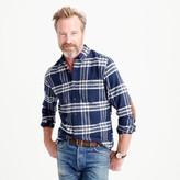 J.Crew Cotton-wool elbow-patch shirt in dark navy plaid