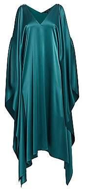 St. John Women's Liquid Satin Cold-Shoulder Slip Dress
