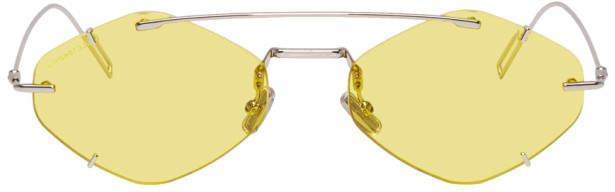 Christian Dior Silver and Yellow DiorInclusion Sunglasses