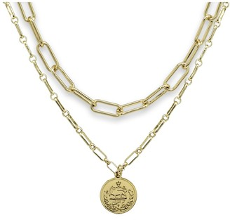 Boho Betty Beira Gold 2 Chunky Chain Layering Necklace Set