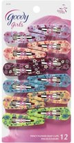 Goody Beautiful Flower Design Counter Clip Assorted Colors 12x - 2 Packs