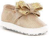 MICHAEL Michael Kors Girls' Baby Bowi Metallic Bow Slip On Crib Shoe